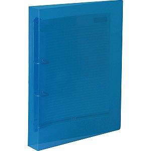 Fichario De Pvc Azul 4 Argolas 26,5 X 34,5 Cm Dac