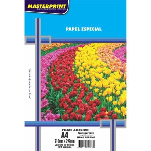 Filme Adesivo Inkjet A4 150G Transparente Masterprint