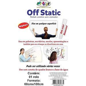Filme Estatico Off Static 01 Rolo 60X100Cm. Off Paper