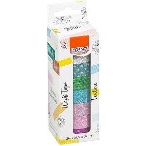 Fita Adesiva Decorada Washi Tape 15X5 Textures 8 Est Brw