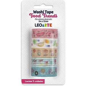 Fita Adesiva Decorada Washi Tape Food Trends 12,5X3M Leonora