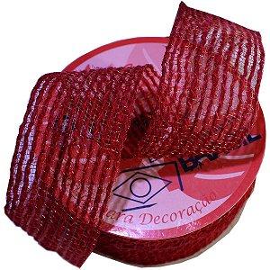 Fita Aramada De Juta 38Mmx10M Vermelho Aramex