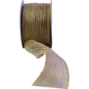 Fita Aramada De Juta 60Mmx10M Cru C/dourado Aramex