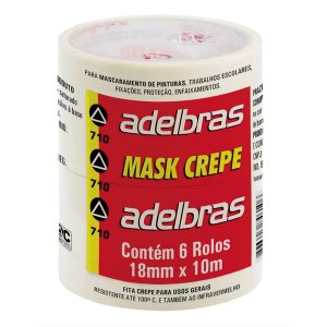 Fita Crepe 710 Mask Crepe 18Mmx10M Adelbras