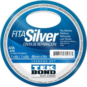 Fita De Alta Resistência Silver Azul 48Mmx5M Tekbond
