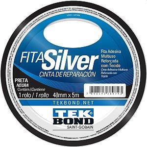 Fita De Alta Resistência Silver Preta 48Mmx5M Tekbond