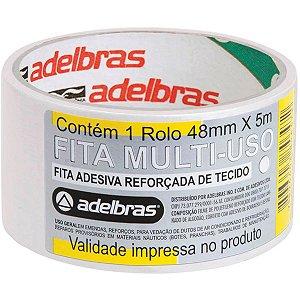 Fita De Alta Resistência Silver Tape Branca 48Mmx5M. Adelbras