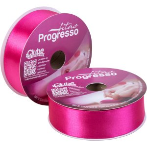 Fita De Cetim 38Mm 50M. Pink 303 Fitas Progresso