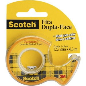 Fita Dupla Face 12,7X6,35Mm C/ Dispensador 3M