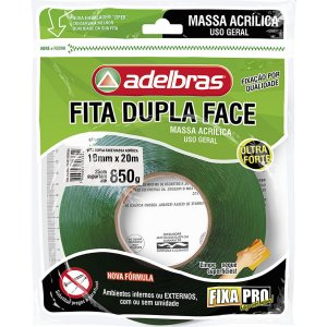 Fita Dupla Face Fixa Pro Massa Acrilic 19Mmx20 Adelbras