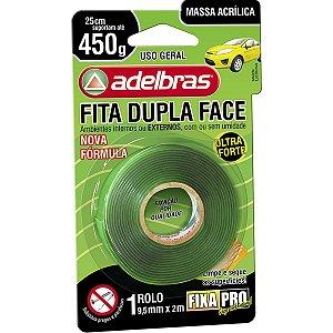 Fita Dupla Face Fixa Pro Massa Acrilic 9,5Mmx2 Adelbras
