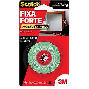 Fita Fixa Forte Espuma Extrema Ate 5Kg 25Mmx2M 3M