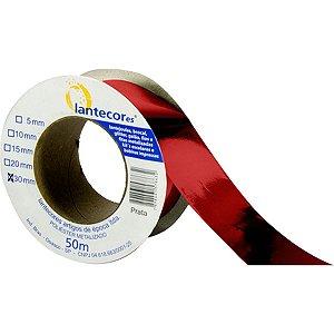 Fita Metaloide 30Mmx50Mts. Vermelha Lantecor