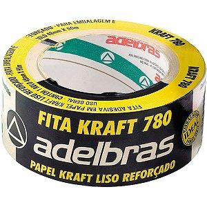 Fita Para Empacotamento Papel Kraft 780 48Mmx50Mts Adelbras