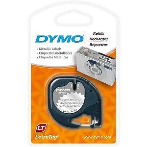 Fita Para Rotulador Eletronico 12Mmx4Mts Metalizado Pto/prat Imex