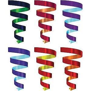 Fitilho 5Mmx50M Multicolor Liso Sortid Emfesta