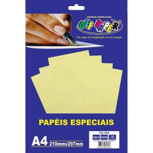 Folha Feltro A4 Creme 30G/m 10Fls. Off Paper