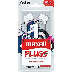 Fone De Ouvido Com Microfone Earbuds Stereo Branco Maxell