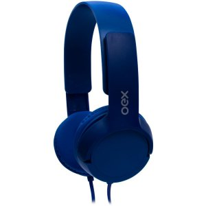 Fone De Ouvido Com Microfone Headphone Teen Cabo 1,2M Azul Newex