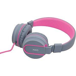 Fone De Ouvido Com Microfone Neon Rosa Embor.acolchoado Newex