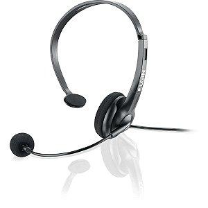 Fone De Ouvido Com Microfone P/telefonista Conector Rj Pt Elgin