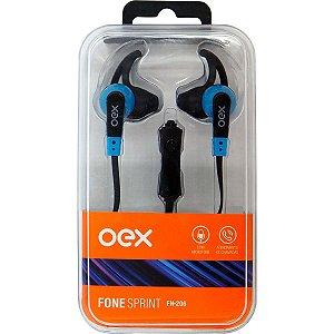 Fone De Ouvido Com Microfone Sprint P2 Cabo 1,2M Azul Newex