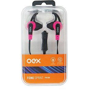 Fone De Ouvido Com Microfone Sprint P2 Cabo 1,2M Rosa Newex
