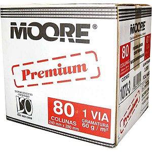 Formulario Continuo Branco 1 Via 80 Colunas Premium 60G Moore Brasil
