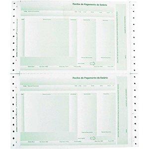 Formulario Continuo Impresso Recibo Pagto Lab02 2Vias Verde Tamoio