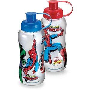Garrafa Plastica Marvel Heroes 550Ml Pet Plasduran
