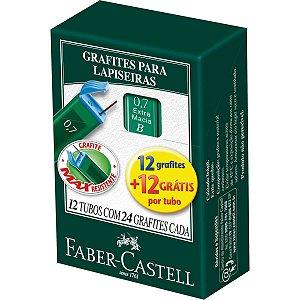 Grafite 0.7Mm B 12Minas+12Gratis 12Tubosx24 Faber-Castell