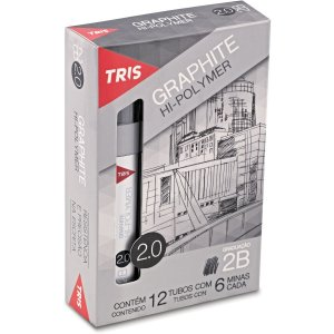 Grafite 2.0Mm Tris 2B 12Tubosx06Minas Summit