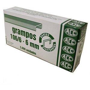 Grampo Para Grampeador 106/6 Galvanizado 5000 Grampos Acc