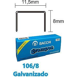 Grampo Para Grampeador 106/8 Aco 3000 Grampos Bacchi