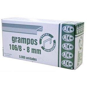 Grampo Para Grampeador 106/8 Galvanizado 5000 Grampos Acc