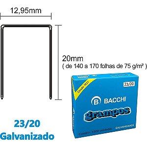 Grampo Para Grampeador 23/20 Aco 1000 Grampos Bacchi