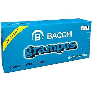 Grampo Para Grampeador 23/8 Galvanizado 5000 Grampos Bacchi