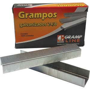 Grampo Para Grampeador 24/8 Galvanizado 1000 Grampos Gramp Line