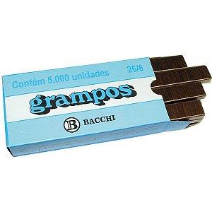 Grampo Para Grampeador 26/6 Cobreado 5000 Grampos Bacchi