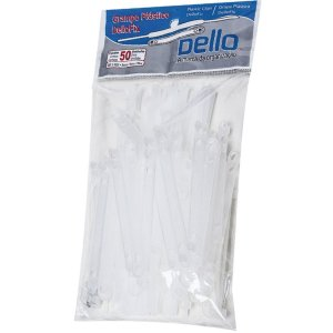 Grampo Trilho Plastico Dellofix Branco Dello