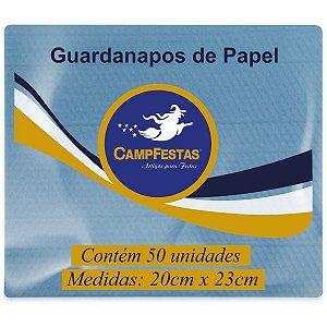 Guardanapo De Papel Azul Claro 20X23Cm 50F Campfestas