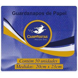 Guardanapo De Papel Azul Escuro 20X23Cm 50F Campfestas
