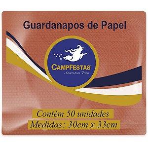 Guardanapo De Papel Laranja 30X33Cm 50F Campfestas