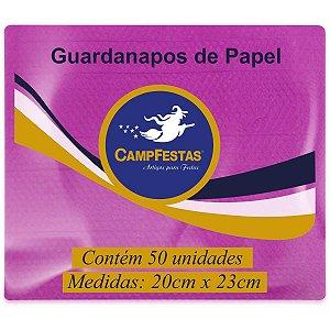 Guardanapo De Papel Pink 20X23Cm 50F Campfestas