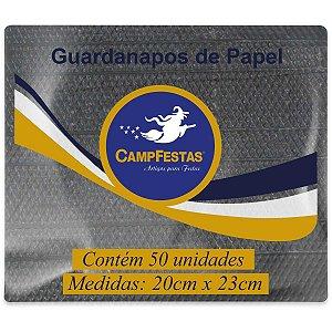 Guardanapo De Papel Preto 20X23Cm 50F Campfestas
