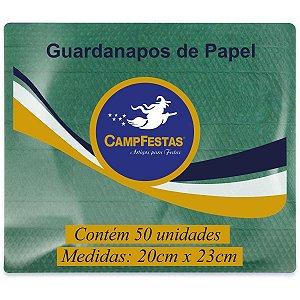 Guardanapo De Papel Verde Bandeira 20X23Cm 50F Campfestas