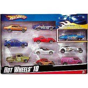 Hot Wheels Hot Wheels C/10 Carrinhos Sort Mattel