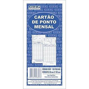 Impresso Cartao De Ponto Mensal Palha 86X180Mm Sao Domingos