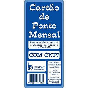 Impresso Cartao De Ponto Mensal Palha 86X180Mm Tamoio