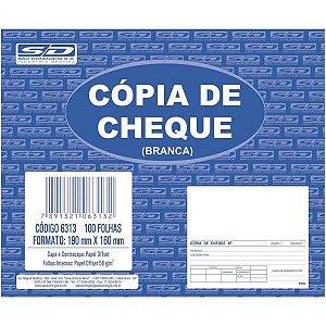 Impresso Copia De Cheque Branco 100 Folhas 160X190Mm Sao Domingos